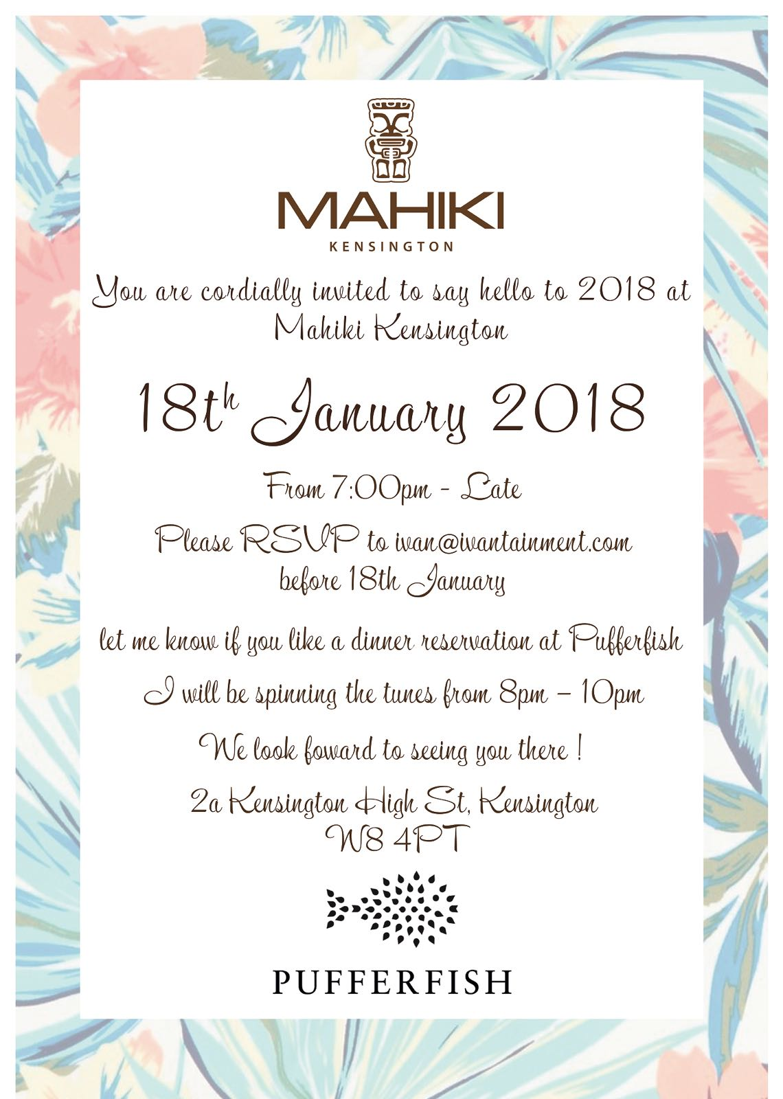 Mahiki Kensington Launch Party