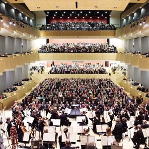 Symfonisk sal med publikum